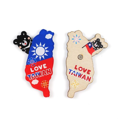 Taiwan National Taiwan -Taiwan Olulu good fun black bear characteristics of wood texture Oh Lulu * * refrigerator / strong magnet / Powerful Magnets ※ ※ can be customized