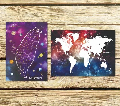 Asteroid Taiwan + Small Space Taiwan Postcard Group (two entries)