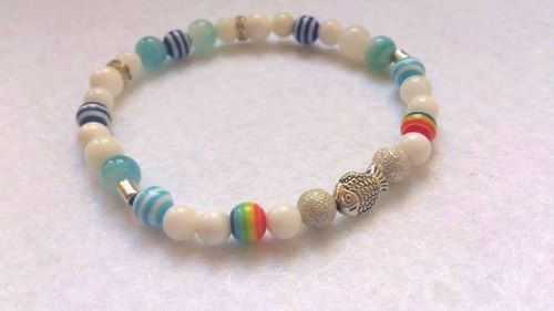 - Dear Sincerity - Colorful fish natural stone bracelet