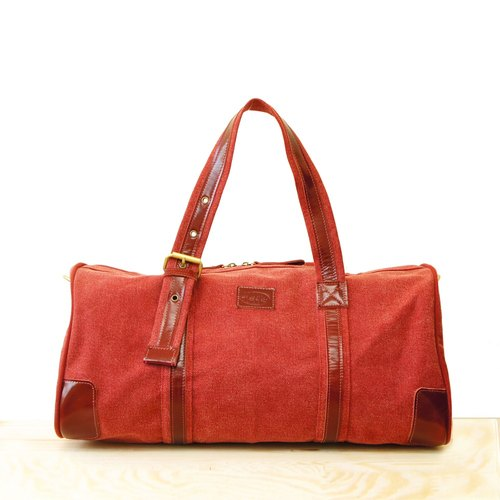 [Happa] will style bag - Belt Long put - stonewashed canvas classic (Wine Wine Red) to exchange gifts mandatory capacity luggage bag autumn camping package