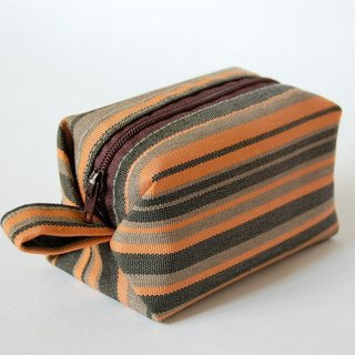 Casual-life hand-made striped box cosmetic