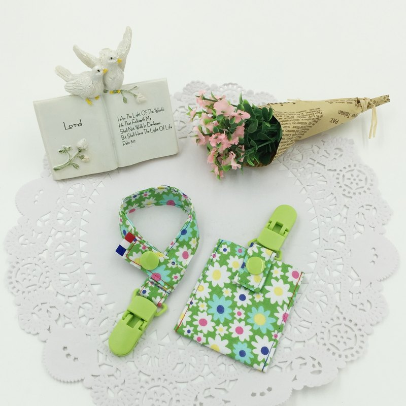 C32-pacifier chain + peace bag value-for-money package set of moon must have vanilla pacifier to send name