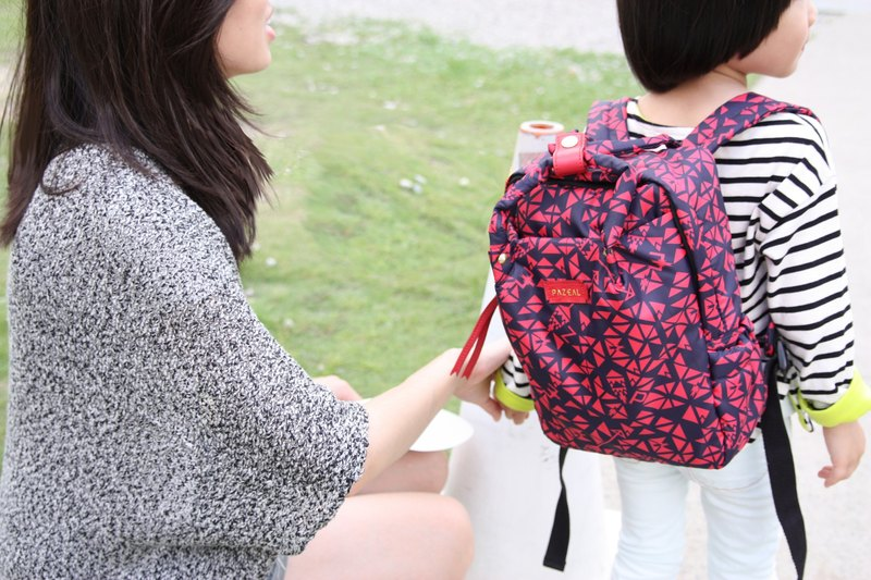 PAZEAL Puffy Backpack - mini backpack (small) (Hongyan)