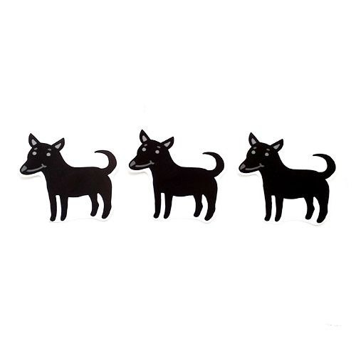 1212 fun design waterproof stickers funny stickers everywhere - Taiwan Dog (black)