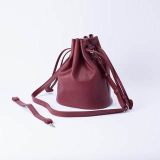 Candy Department Bucket large bucket bag portable shoulder and can replace Marsala / burgundy