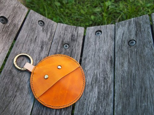 Elf clasp purse (warm yellow) Pacman Coin Holder