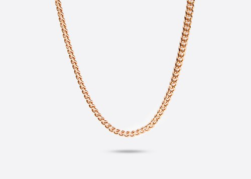 GOOTS / 6MM Cuban Curb-Chain 6MM thin flat chain necklace