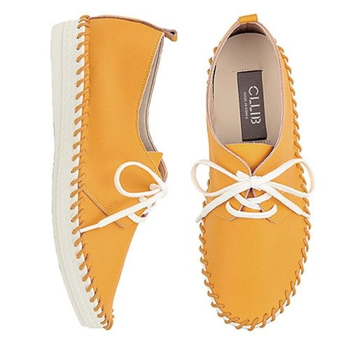 【Korean trend】SPUR PreN_Modern yellow slip ons HS4161 YELLOW