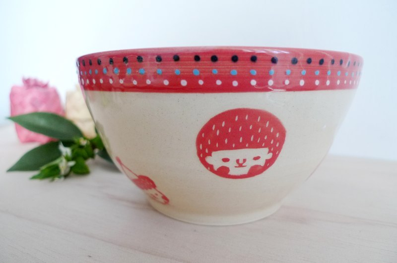 Face face bowl - red
