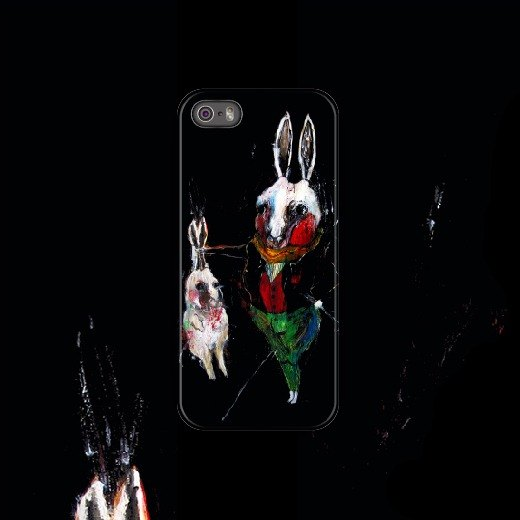 Human and animal physics - rabbit bunny / 2014 / phone case