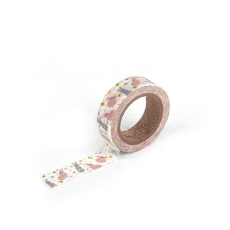 Dailylike single roll of tape 16-chubby rabbit, E2D84096