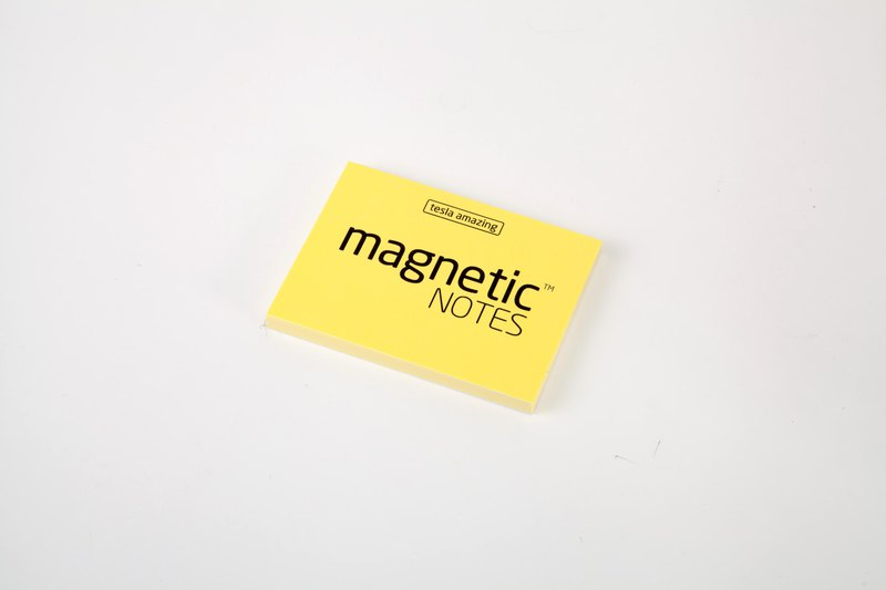 /Tesla Amazing/ Magnetic Notes 磁力便利貼 S-Size 黃