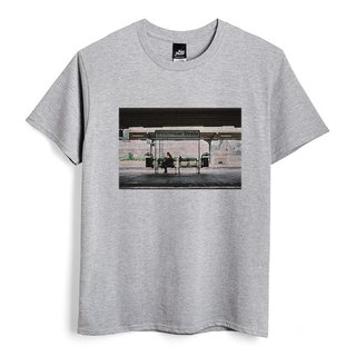 Warsaw Street Station - Deep Heather Grey - Unisex T-Shirt