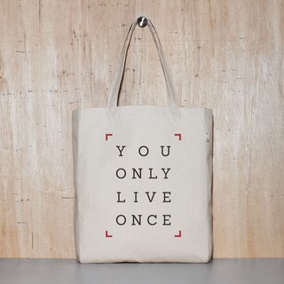 Only live once YOLO original canvas tote bag - 4 sizes
