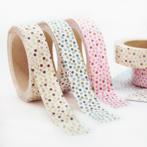 Cloth tape - geometric classical Shuiyu little [naughty] (peach / green / coffee)