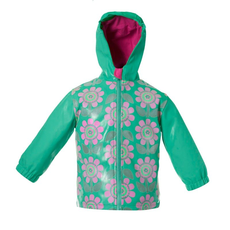 Squid Kids London Rain happy discoloration happy color coat - heart blossoming flowers