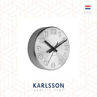 Karlsson, wall clock Bold Engraved numbers Karlsson Netherlands dimpled digital clock (3 colors optional)