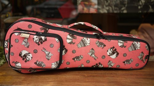 21-inch Ukulele Panda cloth bags back piano