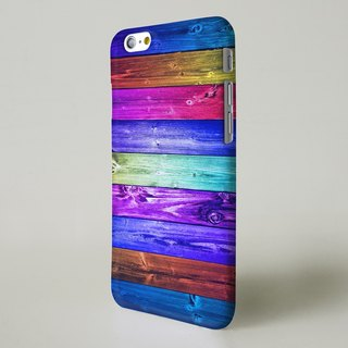 Rainbow Print Wood Pattern 3D Full Wrap Phone Case, available for  iPhone 7, iPhone 7 Plus, iPhone 6s, iPhone 6s Plus, iPhone 5/5s, iPhone 5c, iPhone 4/4s, Samsung Galaxy S7, S7 Edge, S6 Edge Plus, S6, S6 Edge, S5 S4 S3  Samsung Galaxy Note 5, Note 4, Note