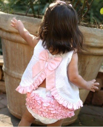 2015 spring and summer pink bow flounced Swing Top