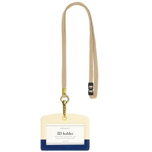 [Japanese] Prendre LABCLIP series ID holder documents folder (with lanyard) dark blue