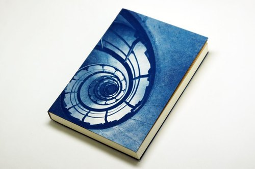 Handmade cyanotype notebook - Infinite ladder