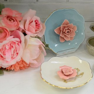 ChouChou Lista Japan exquisite flower ceramic jewelry plate
