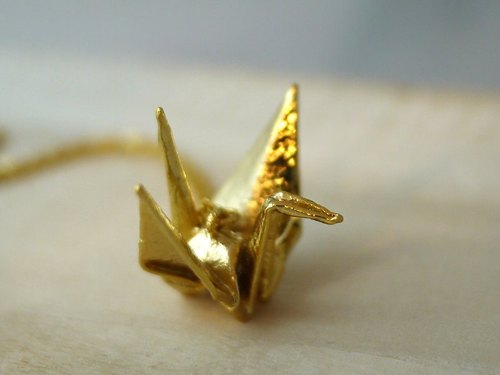 [Jewelry] Jin Xialin ‧ cranes gold necklace