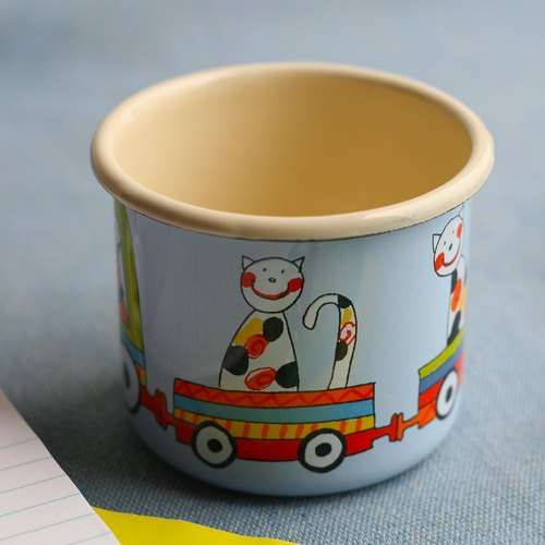 Smaltum Prague enamel cup Wang meow friend _ sky blue (350ml) <FDN000063>