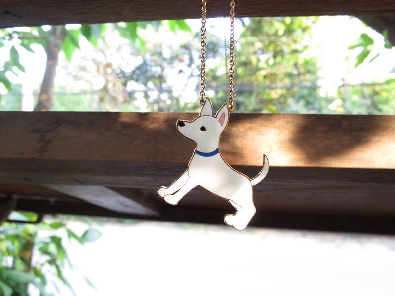 Meikes long necklace Taiwanese dog