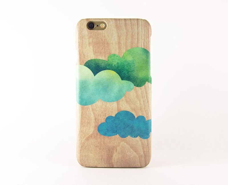 Green Clouds iPhone case