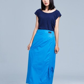 Paris rainbow simple and elegant skirt / sunscreen / waterproof / fresh blue