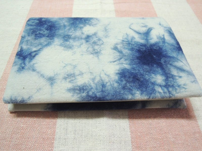 Mumu [vegetation] blue dye stained passport holder (Sky paragraph)