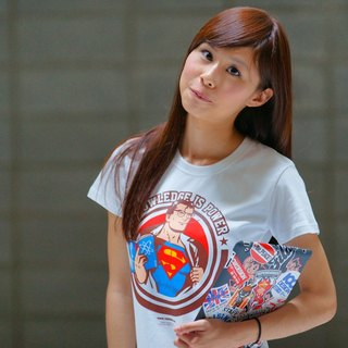 ★ knowledge Superman Cotton kick (image size has been changed into a girl superwoman, superman boys size M) ★