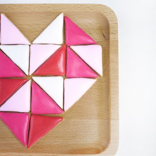Triangular puzzle biscuit combination by anPastry