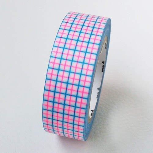 mt and paper tape Deco [square - fluorescent pink fluorescent blue x (MT01D327)]