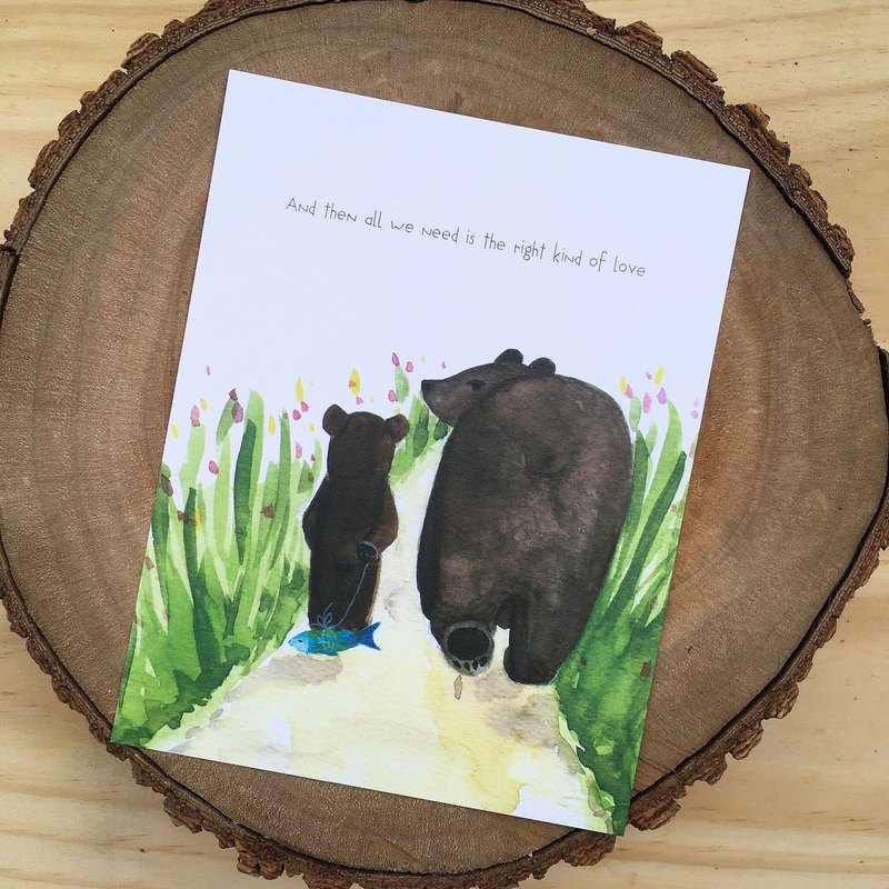 right kind of love * Bear Postcards