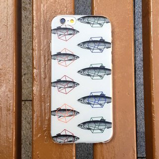 Fish Brown Vintage Print Soft / Hard Case for iPhone X,  iPhone 8,  iPhone 8 Plus, iPhone 7 case, iPhone 7 Plus case, iPhone 6/6S, iPhone 6/6S Plus, Samsung Galaxy Note 7 case, Note 5 case, S7 Edge case, S7 case