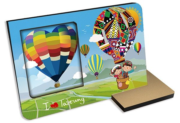 Taiwan Series ~ Taitung hot air balloon ~ 30 seconds sound and light recording card photo frame photo gifts souvenirs