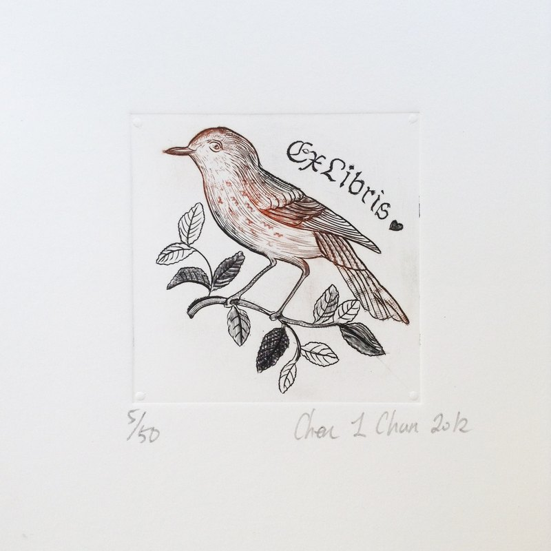 Bookplate prints - Birds - Chen Yi pure