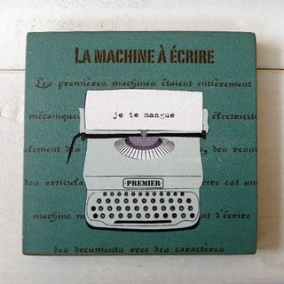 COSTER-WOODEN-LA MACHINE A ECRIRE-BLUE