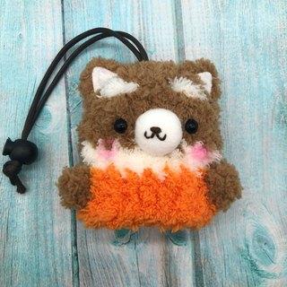 Marshmallow Animal Key Bag - Small Key Bag (Shiba Inu)