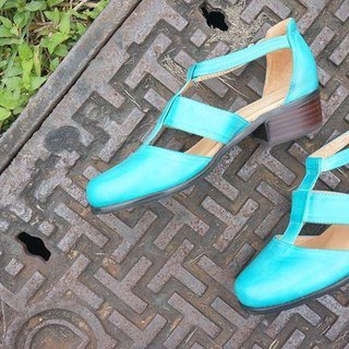 # 867 # Picnic with jam. Roman Baotou shoes blue