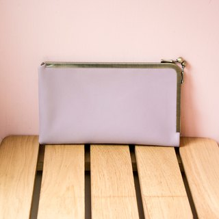 Leather Kisslock Clutch, Phone Wallet, Frame Purse, Smartphone wallet