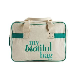 法國my biotiful bag有機棉Boston Bag-Green