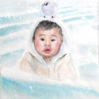 25cmx25cmCustom Portrait, Child's Portrait, Children's Personalized Original Hand Drawn Portrait from Your Photo, OOAK watercolor Painting Ideas Gift