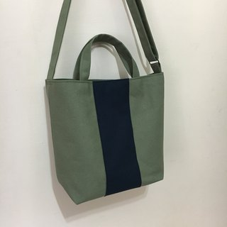 Straight shoulder bag · green gray blue green Tibet