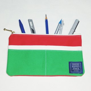 ::Bangstree:: Multifunctional Pencil case- red+white+green