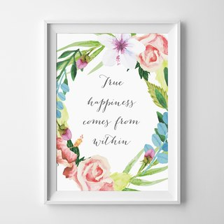 True happiness can be customized poster
