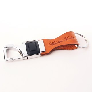 LED Key Chain Corkscrew Opener Light Brown